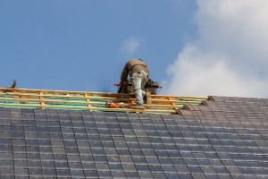Roofer In Work