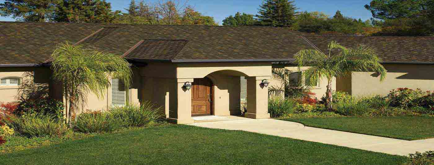 moss green asphalt shingle